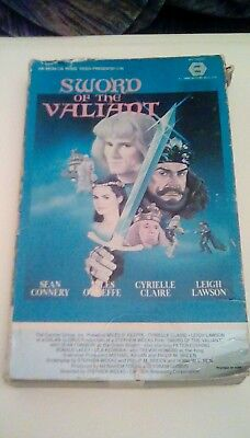 Sword of the Valiant RARE Cannon BIG Box (1984) VHS Sean Connery Peter Cushing