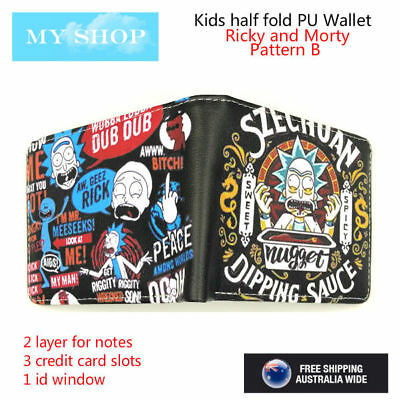 Rick and Morty/Szechuan Sauce-Boys Girls Children Teen-ages Faux Leather Wallet