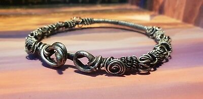VIKING STUNNING DECORATED SOLID SILVER  BRACELET 8TH-9TH century AD