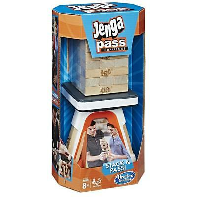 Hasbro Jenga Pass Challenge Party Game Stacking & Pass Family Fun Ages 8+
