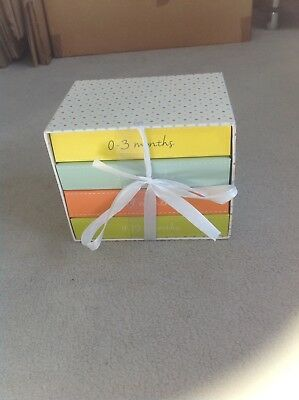 0-12month Baby Photo Albums In Display Box. Perfect New Baby/Christening Gift