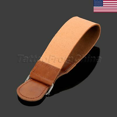 US STOCK Barber Leather Strop Belt Straight Razor Sharpening Shaving Strap Tool