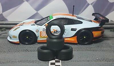 1/32 SLOT CAR TIRES 2pr PGT-20125LM fits SCALEXTRIC Ford Daytona Prototype