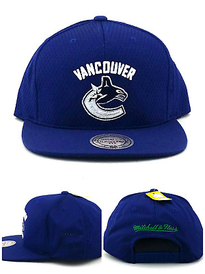cd7401e411e Vancouver Canucks New Mitchell   Ness Jersey Mesh Blue Era Snapback Hat Cap