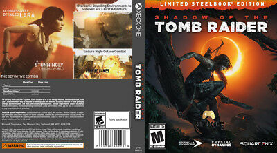 Shadow Of The Tomb Raider (Xbox One) Replacement Case, No Game