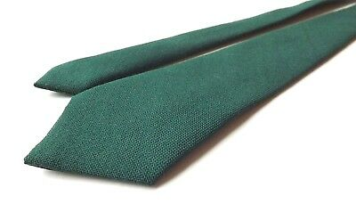BOYS YOUTH Pure Wool Neck Tie Dark/Mid Green Weave Age 5 - 8 approx FREE P&P