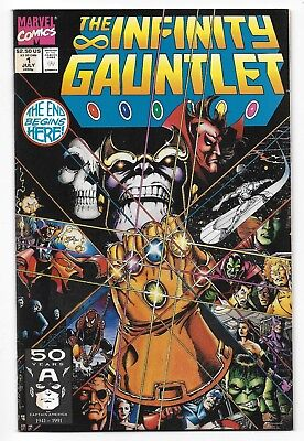 1991 The Infinity Gauntlet Comic #1 from Marvel Comics Thanos