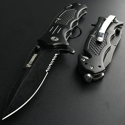 Tactical Folding Pocket Knife Spring Assisted Hunting Stainless Steel 8Cr13Mov