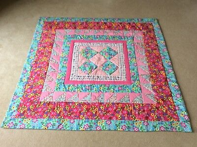 Beautiful Baby Handmade Quilt. 100% Cotton With Natural Wadding