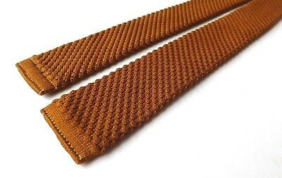 Vintage BOYS YOUTH 1950s 1960s Skinny Knitted Neck Tie Bronze MOD SKA FREE P&P