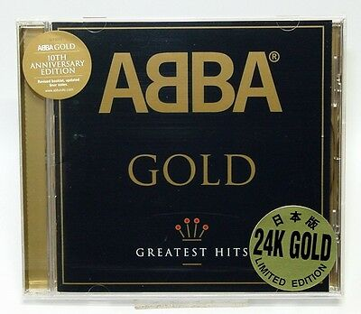 Abba -Gold - Greatest Hits 24K Gold Limited Edition 10Th Anniversary New