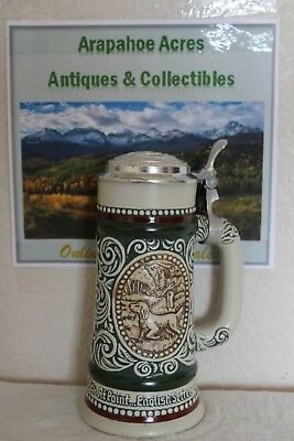 Vintage 1978 Avon Beer Stein, At Point English Setter, The Strike Rainbow Trout