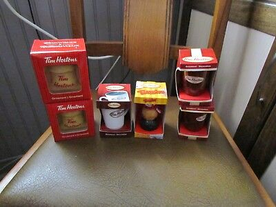 Various Tim Hortons Collectible Christmas Ornaments