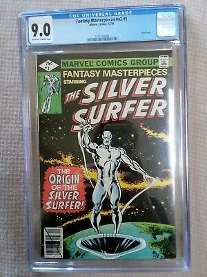 Fantasy Masterpieces feat. Silver Surfer 1 CGC 9.0 (1979, Marvel Comics)