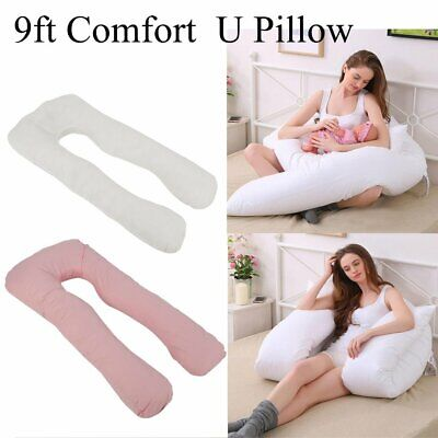 9ft U Shaped Pillow and/ or CaseTotal Body Comfort Ideal for Pregnancy Maternity