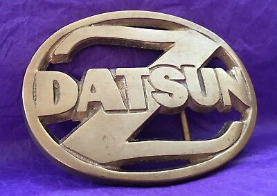 Vintage 1978 **DATSUN Z* Solid Polished Brass BELT BUCKLE- Nissan Car Automobile