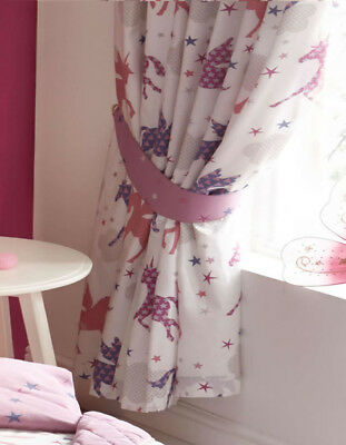 Unicorns and Stars Curtains 72s - Magical, Pink, Purple