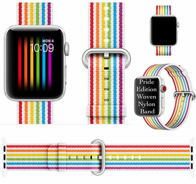 For New iWatch Apple Watch Series 4 44mm 2018 Nylon Woven Strap Band Replacement