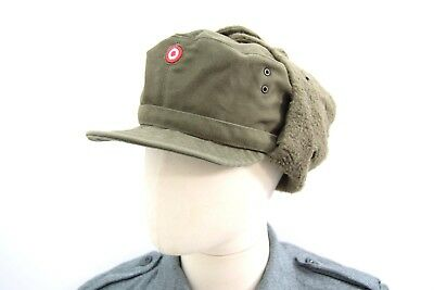 b4a26b1a452 Austrian Army Issue Winter Hat Cold Weather Ushanka Hat Field Cap Used  Military