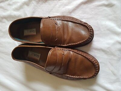 Mens Nico Nerini Brown Slip On Shoes Size 8