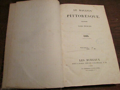 Le Magasin Pittoresque 1833