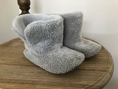 Restoration Hardware Baby & Child Plush Kids Booties Size L Gray