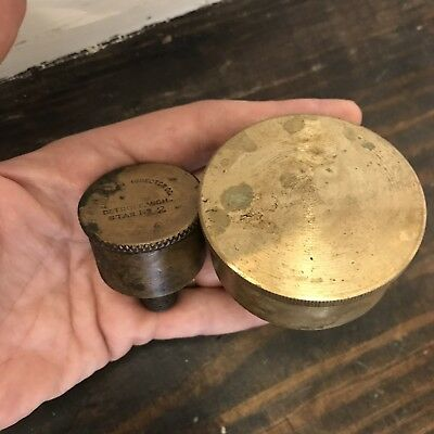 Antique American Injector Star #2 Small Brass Grease Cup+ Bonus Grease Cup