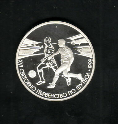 Bulgaria--1996 Silver 500 Leva Proof Coin--Soccer
