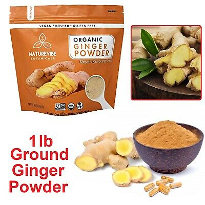 GROUND GINGER ROOT Organic Powder Gluten Free Natural Vegan Non GMO Flour 1lb