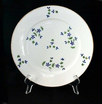 Paris Porcelain Plate from Nast Manufacture, Barbeau Décor, France early 19th c.