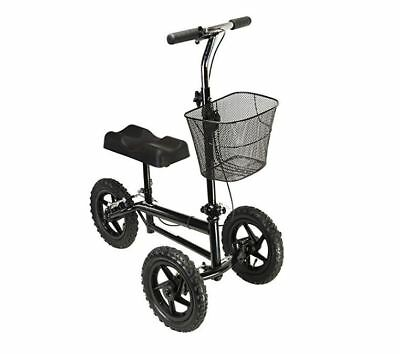 Azoob All Terrain Steerable Knee Walker Scooter Crutches Alternative Wheels