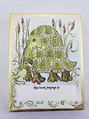 Vintage Turtle Tortoise Bookplates Antioch Bookplate Co. USA 3x4 Inches