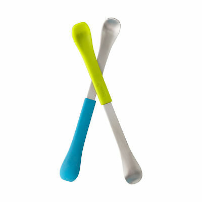 B10150 Boon Swap Double Ended Childrens Cutlery Silicone Stainless Steel Spoons