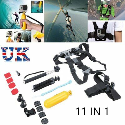 11 in1 Accessories Kit  Floating Monopod Accessories Kit For GoPro 3 4 5 6 7