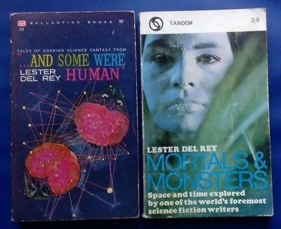 Lester Del Rey - 2 Science Fiction Paperbacks, Mortals & Monsters, And Some Were