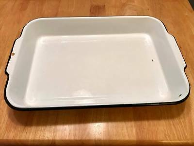 graniteware baking pan Vintage