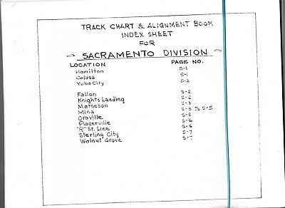 Sacramento Division Track Chart and Alignment Book FREE SHIPPING