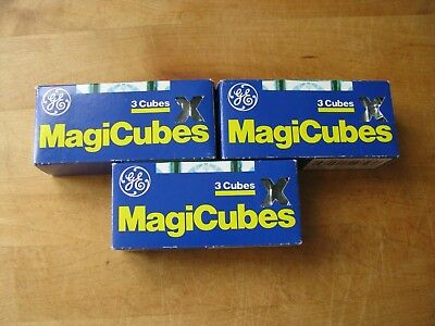 8 X GE Magicubes 8 NEW General Electric Magic Cubes  8 Cubes 32 Flashes