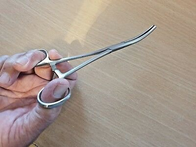 Fishing Forceps 7 Inch Curved Tip. Quality Stainless Steel. U.k Stock. Locking