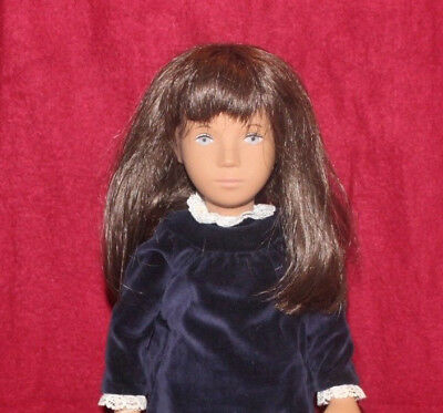 "16"" Vintage 180 Sasha Doll,Brown Hair,Blue Velvet Dress,Tag And Box,Made In UK"