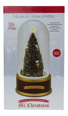 Mr. Christmas Limited Edition Holiday Musical Glass Dome 75th Anniversary NEW