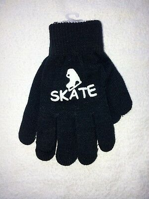 Magic Stretch Ice Skating Gloves Skate Black age 7/16 BRAND NEW