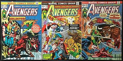 Lot Of 3 The Avengers Comics (Marvel,1974) #119-121 Bronze Age ~