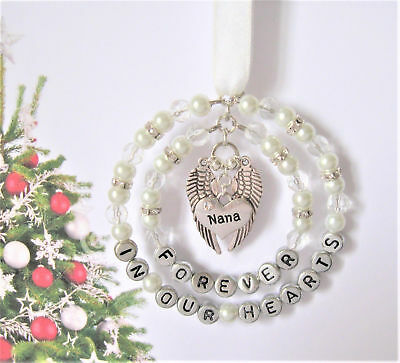Remembrance / Memorial Decoration - heaven / feathers/ christmas tree decoration