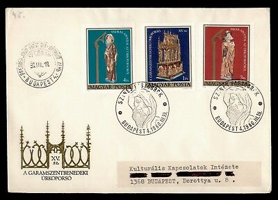 DR WHO 1980 HUNGARY FDC COFFIN OF CHRIST IMPERF COMBO  d63258