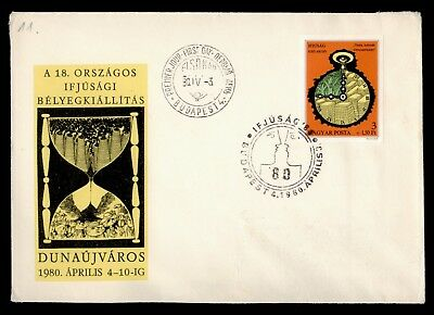 DR WHO 1980 HUNGARY FDC NATIONAL YOUTH DUNAUJVAROS IMPERF  d63259