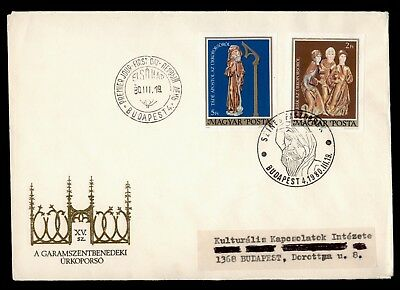 DR WHO 1980 HUNGARY FDC COFFIN OF CHRIST IMPERF COMBO  d63263