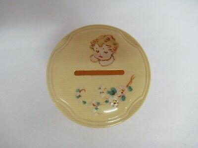 Vintage Celluloid Baby Bank, S-919
