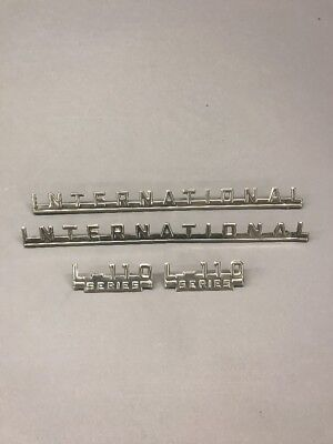 Ih International L-110 Emblems Set Truck Pickup