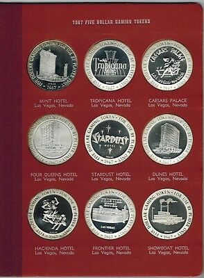 Franklin Mint Domestic Gaming Tokens 1967 ~ TWO VOLUMES ~ Sterling ~ NO RESERVE!